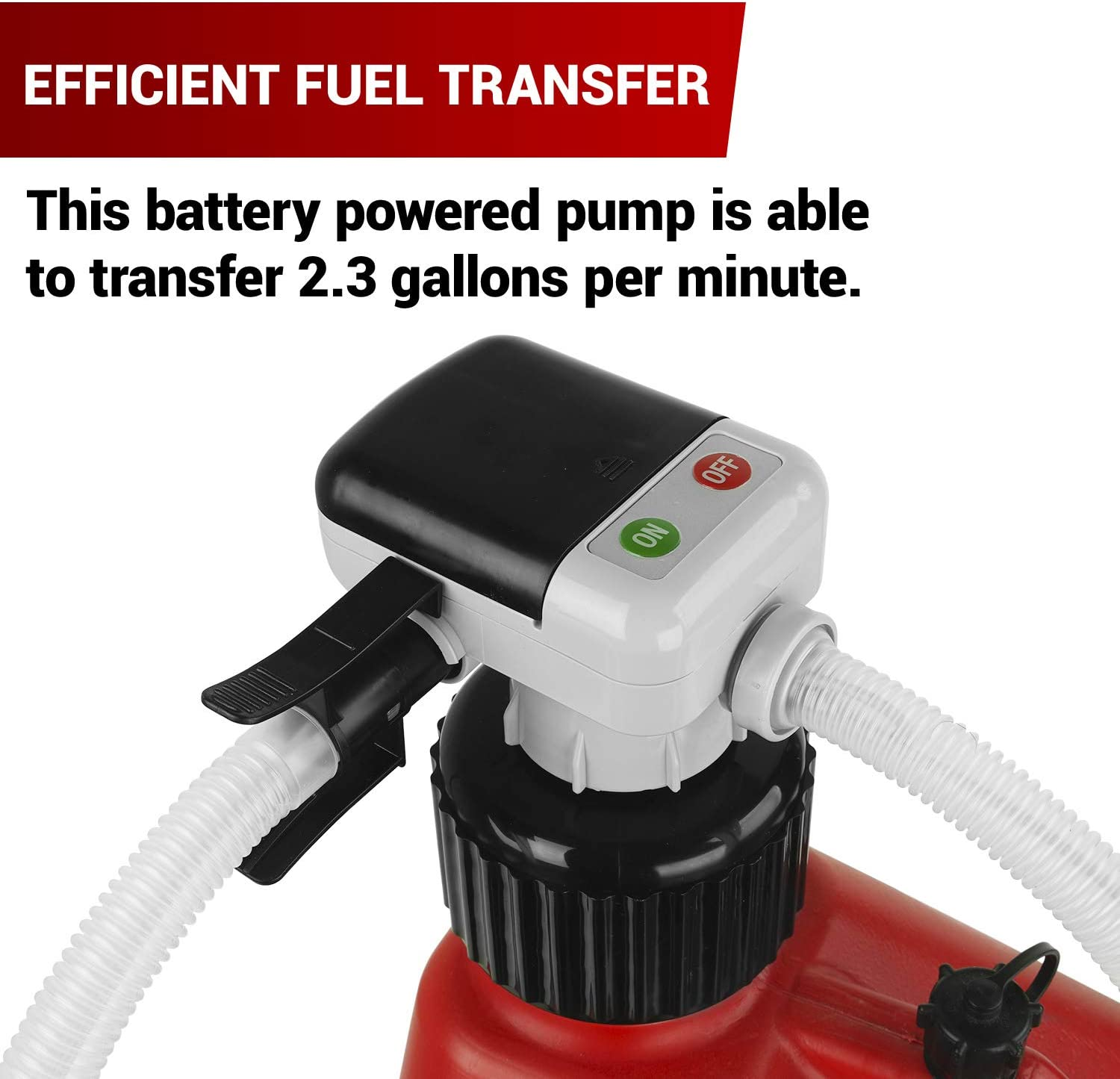 TRFA01-XL-CH 4X AA Battery Fuel Trasfer Pump for Ethanol Methanol DEF Brake Cleaner 2.3 GPM Transfer Pump Fits Most North American Gas Cans TERA PUMP
