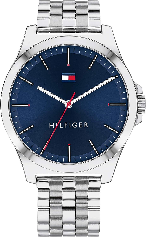 Tommy Hilfiger Reloj Analógico para Hombre de Cuarzo con Correa en Acero Inoxidable 1791713