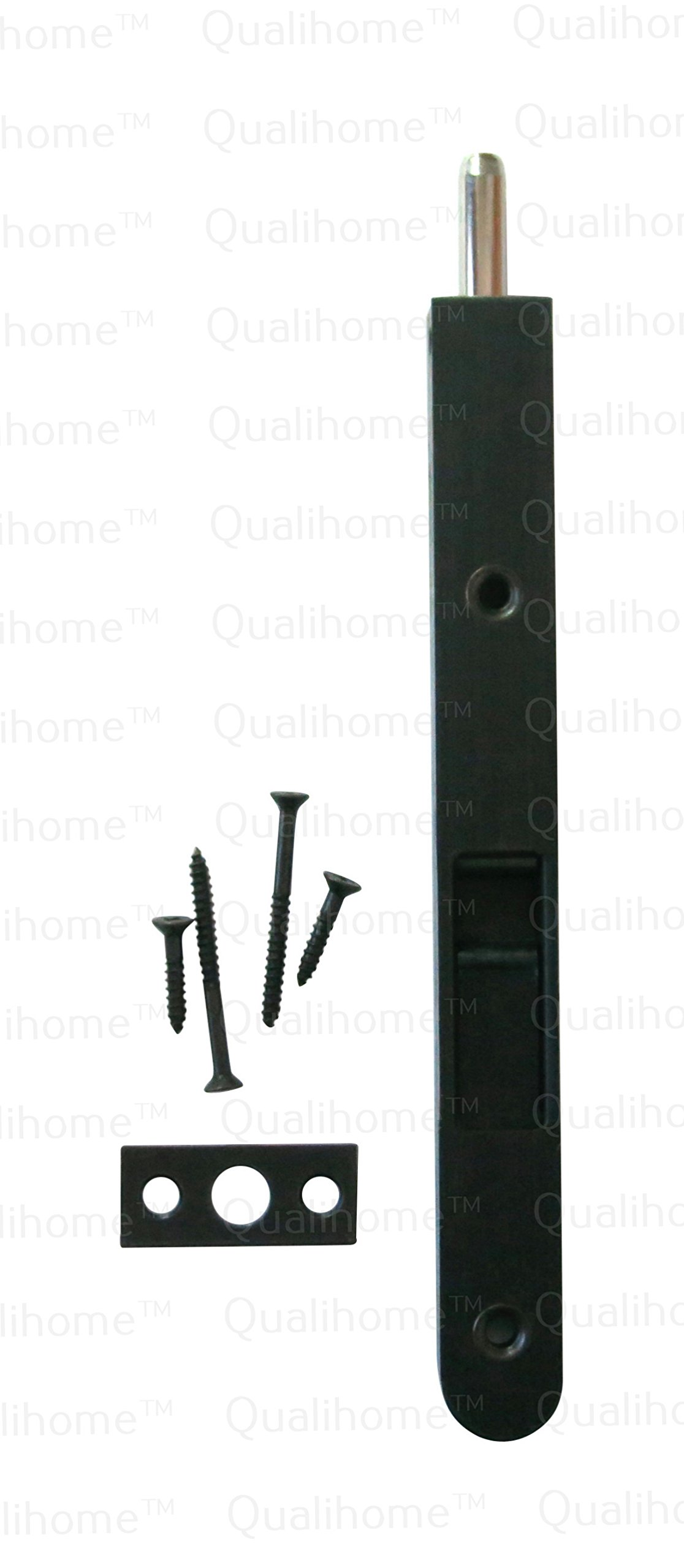 Premium Quality Door Flush Bolt with Strike and Screws (Oil Rubbed Bronze) by Qualihome
