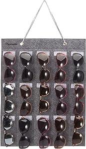 PACMAXI Sunglasses Storage Organizer, Wall Pocket Mounted by Sunglasses, Hanging Eyeglasses Storage Holder, Eyewear Display.