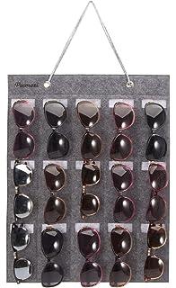 ecc931d7a PACMAXI Sunglasses Organizer Storage,Wall Pocket by Sunglasses 15 Slots  Felt (Grey)