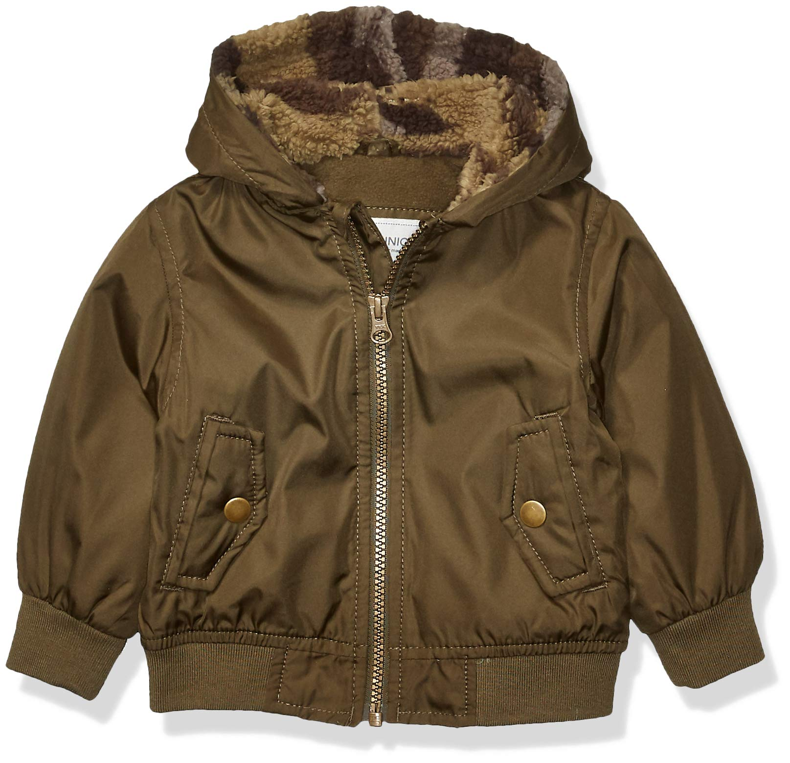 Carter's Baby Boys Fleece Lined Bomber Jacket, Rustic Olive, 18 Months by Carter's