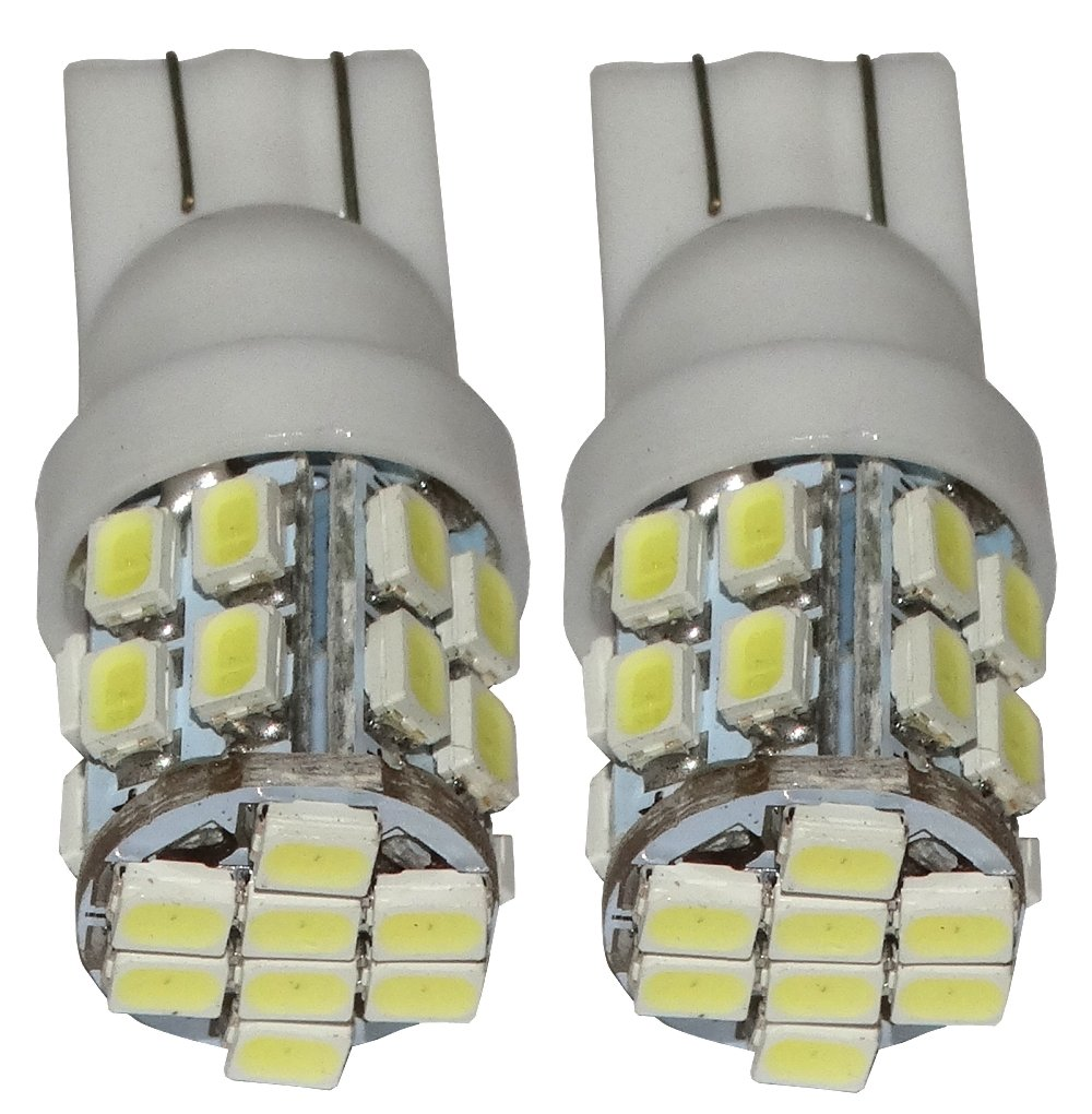 Aerzetix: 2x ampoule T10 W5W 12V 24LED SMD blanc effet xé non veilleuses é clairage inté rieur seuils de porte plafonnier pieds lecteur de carte coffre compartiment moteur plaque d'immatriculation SK2-C10377-I21