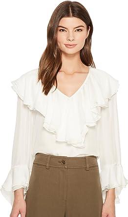 0aeac92e2467a Amazon.com  Trina Turk Women s Lantana Top Whitewash Medium  Clothing