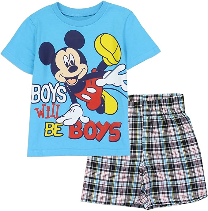 Disney Mickey Mouse Short Set for Boys Blue