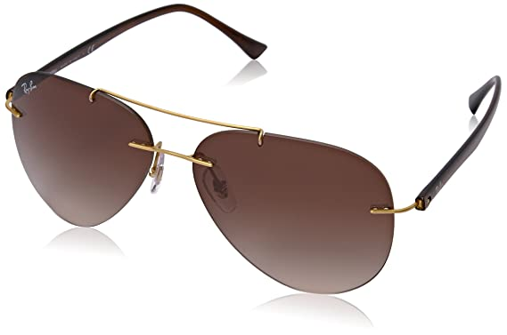 4f8bef402d8e Amazon.com: Ray-Ban Men's Titanium Man Sunglass Aviator, BRUSHED ...