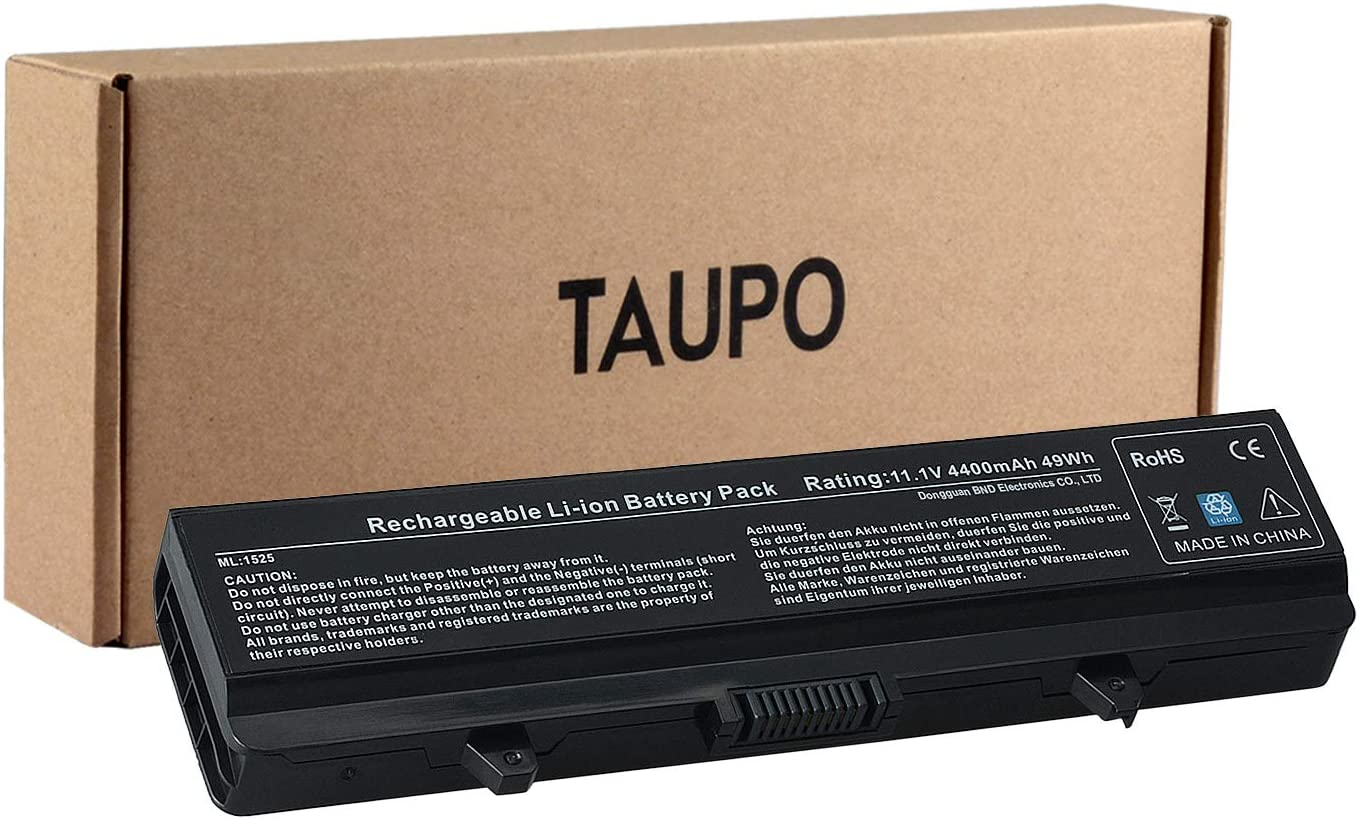 TAUPO X284G Laptop Battery Compatible with Dell Inspiron 1525 1526 1545 1546 PP29L PP41L Series,fits P/N G555N M911G GW240 GP952 RN873 - [6cells,49Wh]