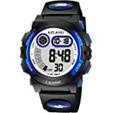AZLAND Boys Girls Watches,Sports Watch,Digital Watch Features Night-Light,Swim,Frozen,Waterproof Kids Watch