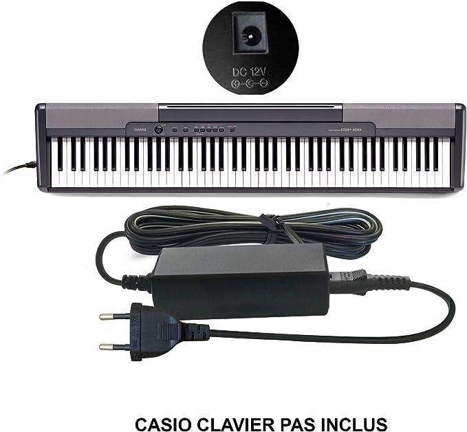 Prise fran/çaise MyVolts Chargeur//Alimentation 9V Compatible avec Casio SA-78 Clavier Adaptateur Secteur