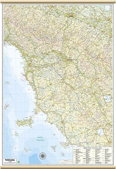 Cartina Dettagliata Toscana.Toscana Carta Regionale Murale 67x100cm Belletti Amazon It Cancelleria E Prodotti Per Ufficio