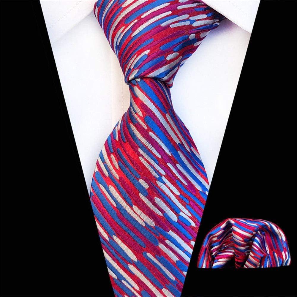 Zjuki corbata Corbata Pañuelo Conjunto para Hombre 8 cm Seda ...