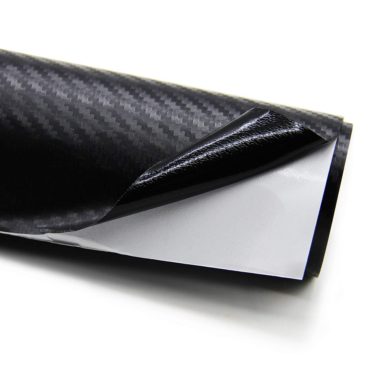 1520 x 300 mm Adesivi Auto Tuning Adesiva Foglio Nero Wrapping per Auto ZOEON 2 Rotoli 3D Pellicola Carbonio