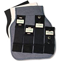 Belly Belt Belly Belt, Correa del vientre Para Mujer, Multicolor (Blue/White/Black), Pack de 3