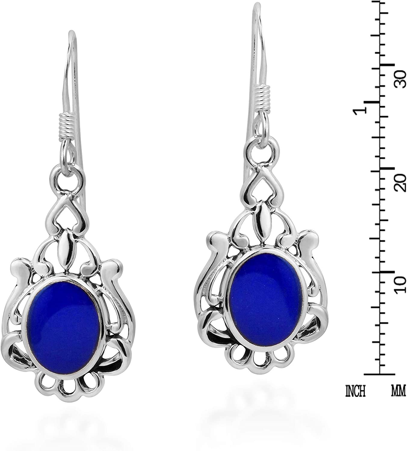 Lapis lazuli and sterling earrings