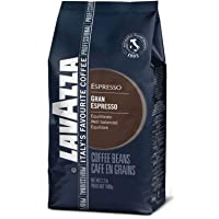 Lavazza Gran Espresso 优质意式浓咖啡全豆混合咖啡,意式焙炒浓缩咖啡,2.2 磅(约 1.0 千克)袋装