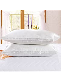 bedroom pillows. Bed Pillows 2 Pack  Larnn Soft Bedding Dust Mite Repellent Silk Fabric and Shop Amazon com