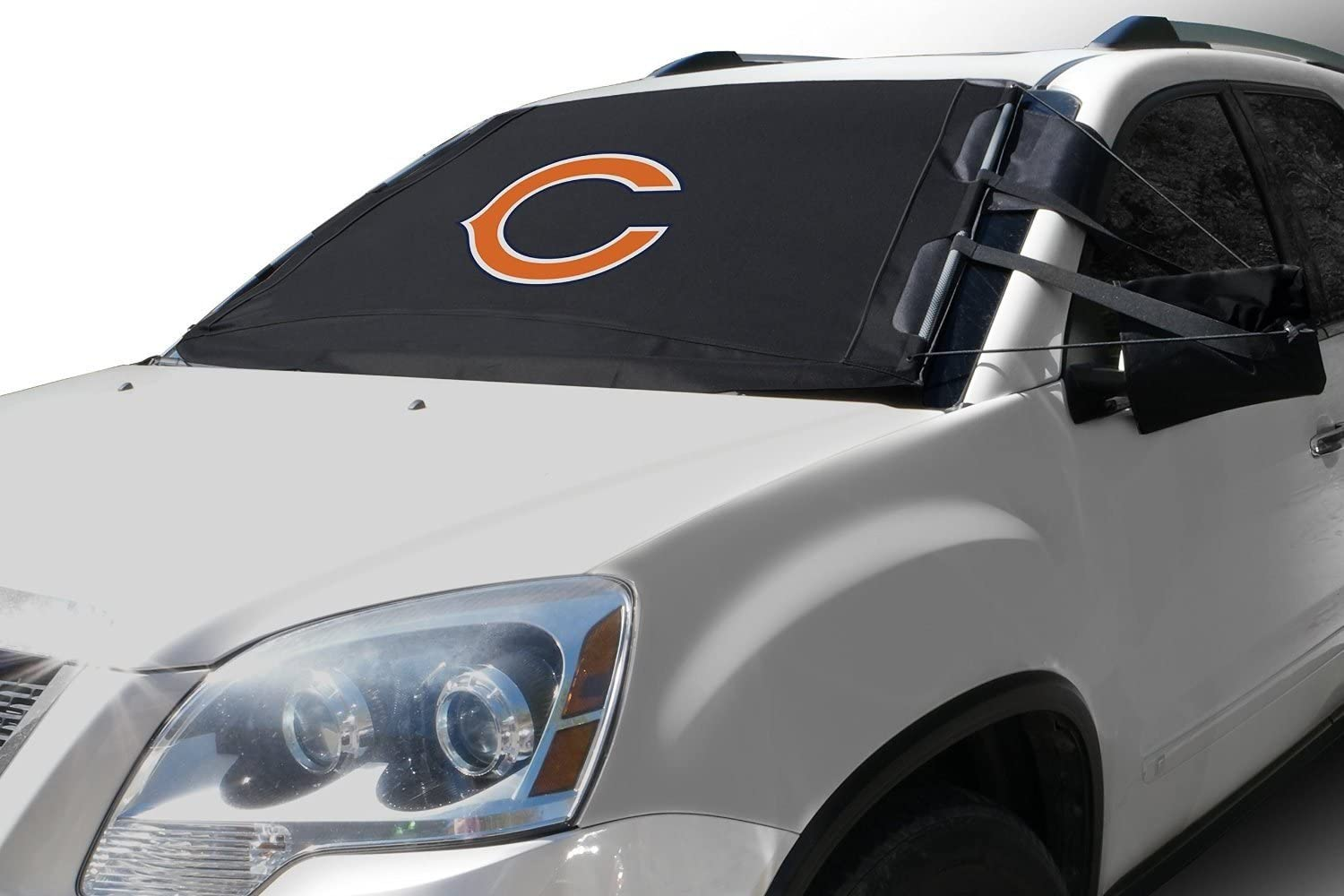 NFL Frost Guard Windshield Cover for Ice and Snow, Chicago Bears | Standard Size Car Windshield Cover, Black | Fits Most Compact Cars, Sedans, Small Trucks, SUVs – 60 x 40 Inches