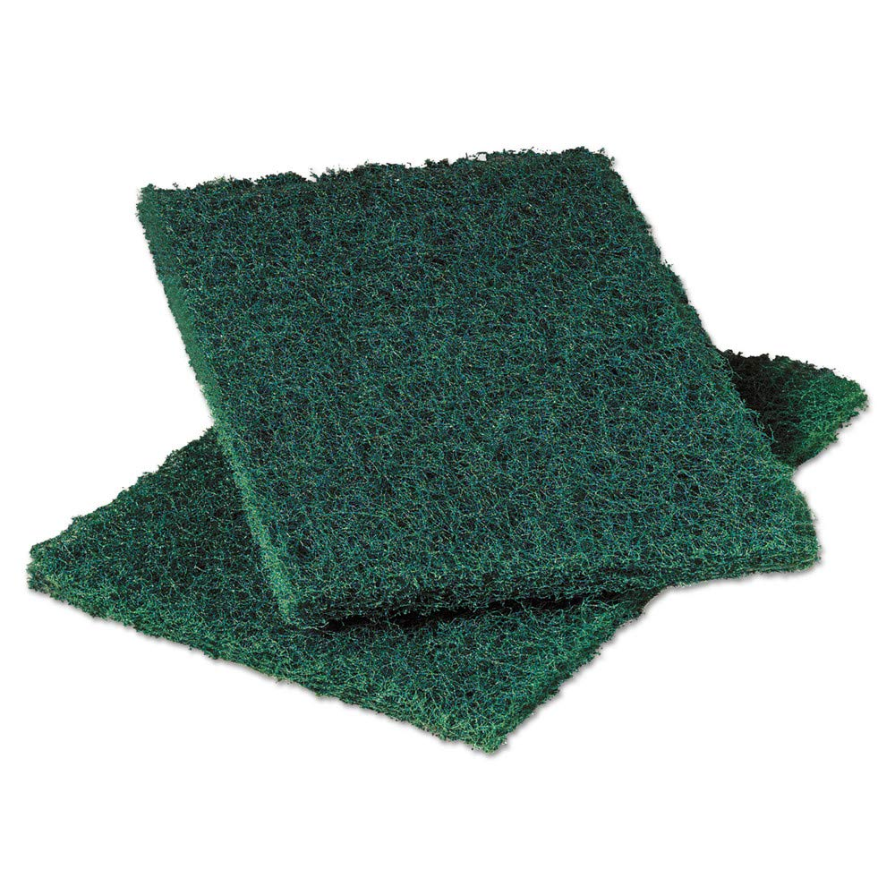 Scotch-Brite PROFESSIONAL 86 Commercial Heavy Duty Scouring Pad 86, 6'' X 9'', Green, 12/pack, 3 Packs/carton by Scotch-Brite