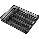 5 compartimentos de malla de acero para cubertería de cocina, almacenamiento de cubiertos con pies de espuma antideslizantes