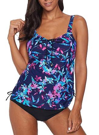 47048a6e68f8a5 FIYOTE Badebekleidung Schwimmanzug Damen Swimsuit Bikini Set Strandponcho  Swimwear S