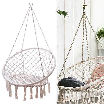 Amazon Com Nopteg Sorbus Hammock Chair Macrame Swing Handmade