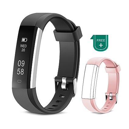 Muzili Pulsera de Actividad Inteligente Fitness Tracker Impermeable Pulsera Actividad Reloj Deportivo con Podometro/Monitor