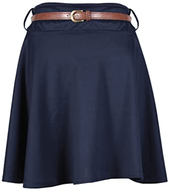 Purple Hanger - Jupe Mini Femme Grande Taille Jersey Evasé Patineuse ... be0e7b8dd6ce