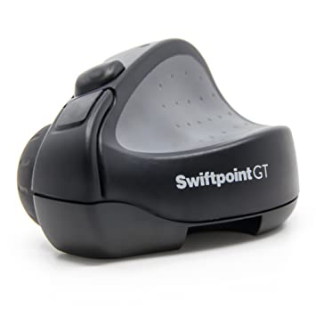 Swiftpoint GT Wireless Ergonomic Remote Desktop Travel Mouse with  Bluetooth, Quick Recharge, 1250 DPI
