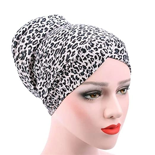 Gilroy Womens Muslim Turban Beanie Hat Chemo Cancer Cap Hair Loss Head Scarf Hijab