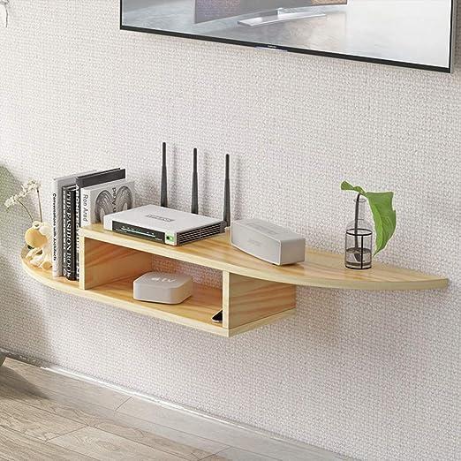 TriGold Madera Asimétrica Flotante TV Mueble,Pared Consola para TV ...