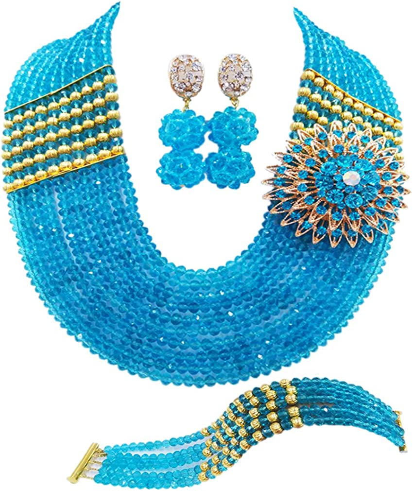 aczuv Nigerian Jewelry For Women Necklace African Wedding Cr Set Animer and price Max 55% OFF revision