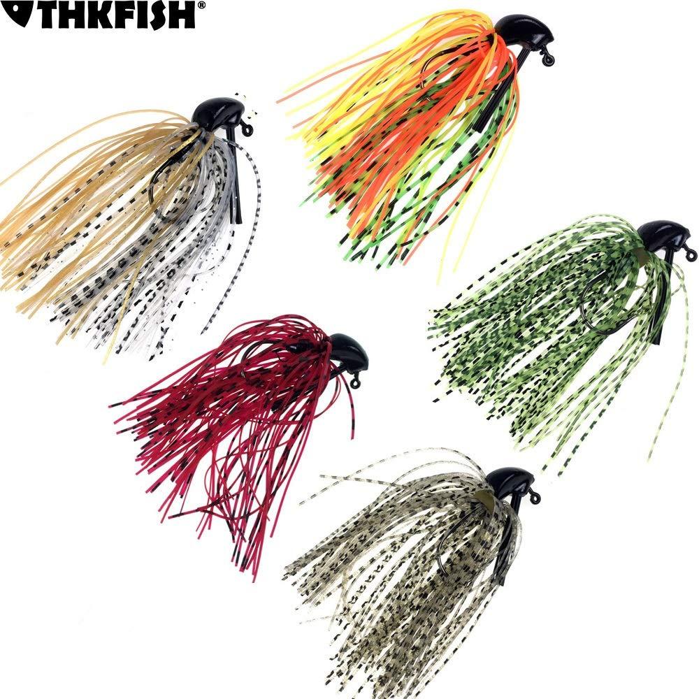 Color : 5pcs 10g 4oz 3 2oz Pesca app/âts artificiels Plomb Jupe Caoutchouc p/êche Jigs Head Buzz Swim Bass leurre de p/êche leurres L-MEIQUN 10g 14g 1 8oz 1 5pcs 7g