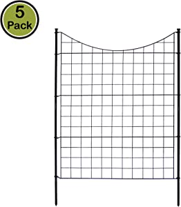 Zippity Outdoor Products WF29002 Garden Metal Fence 1 Box (5 Panels & 6 Stakes), 42""