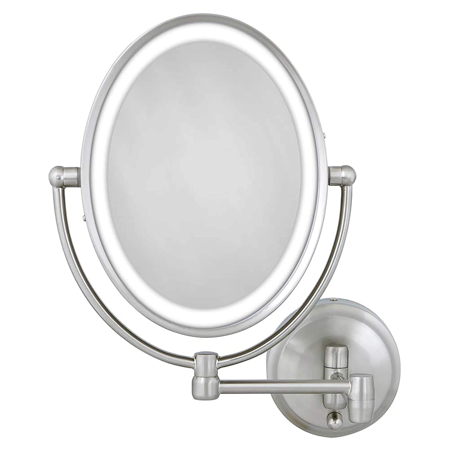 Zadro 10X LED Lighted Wall Mounted Magnifying Makeup Mirror