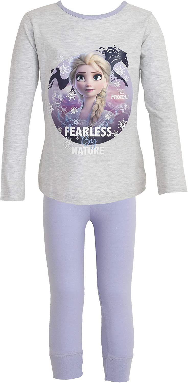 Disney Frozen 2 Kinder//M/ädchen Fearless by Nature Pyjama Set