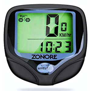 Zonore Bike Computer Original Wireless Bicycle Speedometer, Bike Odometer Cycling