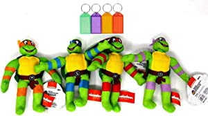 Teenage Mutant Ninja Turtles Plush Set Stuffed Animal Kids Gift Toy + Bonus with Name Tag