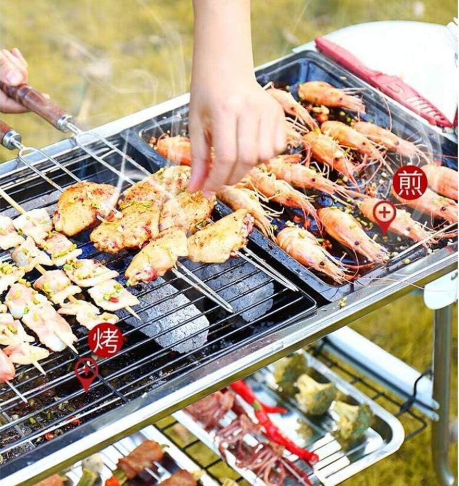 LW BBQ Barbecue À Charbon De Table en Acier Inoxydable Pliable Four Grille De Cuisson Démontable pour Barbecue De Jardin Extérieur Camping Et Pique Nique (pour 5-10 Personnes),A B