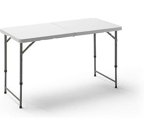 KitGarden Folding 122 - Mesa Plegable, color Blanco, 122x60x52/74 ...