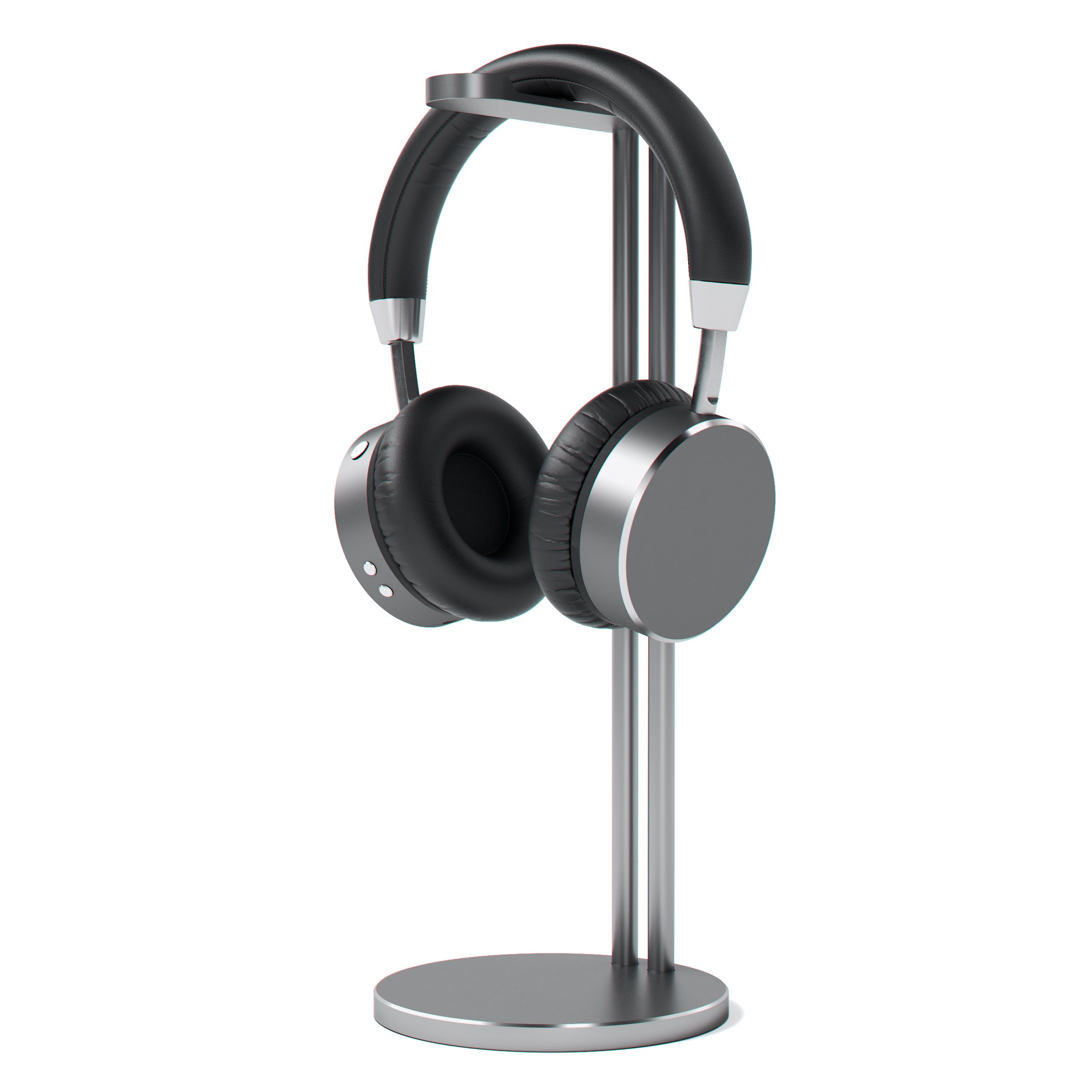 Satechi Aluminum Slim Headphone Headset Stand - Universal Fit - Compatible with Bose, Sony, Beats, JBL, Panasonic, AKG, Audio-Technica, Sennheiser, Shure and More (Space Gray)
