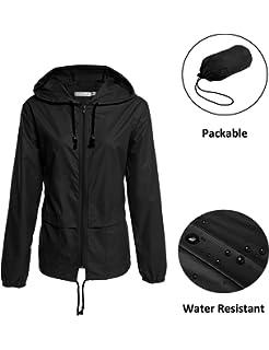 eac93c9aca3 Lightweight Waterproof Raincoat For Women Packable Outdoor Hooded Rain  Jacket