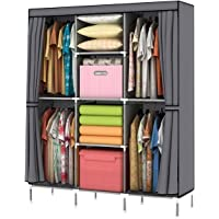 YOUUD Wardrobe Storage Closet Clothes Portable Wardrobe Storage Closet  Portable Closet Organizer Portable Closets Wardrobe Closet