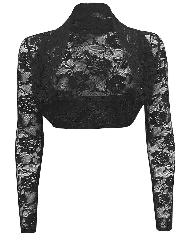 free shipping Appcome Women's Long Sleeve Floral Lace Shrug Bolero Cardigan