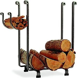 product image for Enclume LR1B HS CL Indoor/Outdoor Rectangle Fireplace Log Rack, Hammered Steel