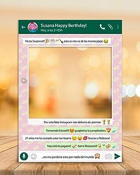 setecientosgramos Photocall Whatsapp | 80x110 | Ventana Whatsapp | Marco Whatsapp | PhotoBooth Whatsapp (Cartón 4mm)