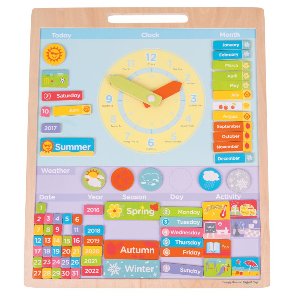 Bigjigs Toys Educational Wooden Magnetic Weather Board 691621195925