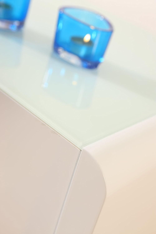 Phoenix Side Table, Wood, White High Gloss Finish Phoenix Group AG 148815WE