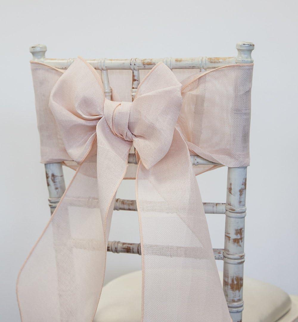 Rubans en toile de jute pour chaises et chemins de table assortis