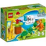 Lego 10801 - Duplo - Jeu de Construction - Les Bébés Animaux du Monde