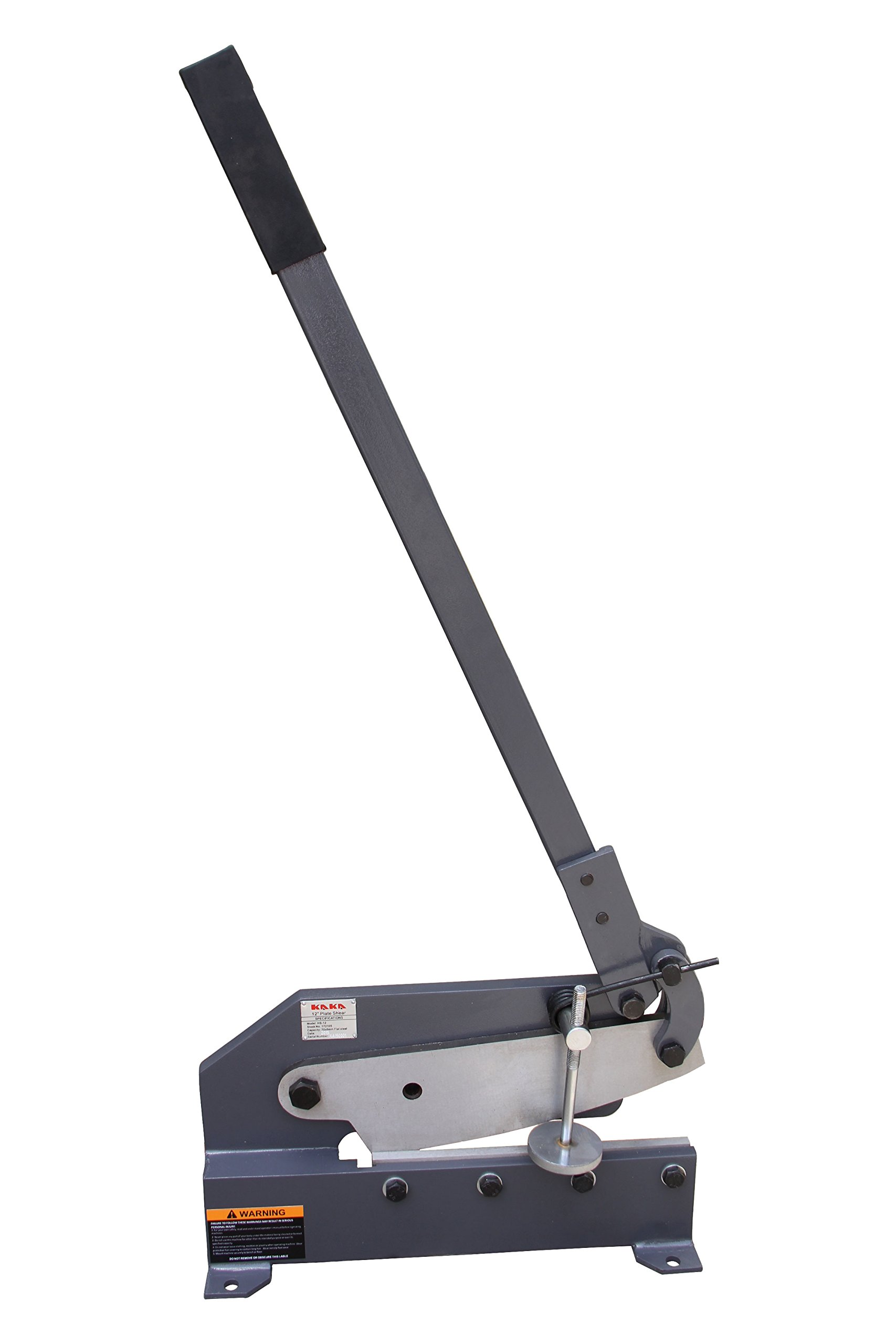 KAKA Industrial HS-12 12-Inch Sheet Metal Plate Shear, Solid Steel Frame, Mounting Type Metal Shear, High Precision Manual Hand Plate Shear